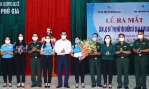 Hà Tĩnh: Ra mắt CLB 'Phụ nữ với chiến sỹ quân hàm xanh'
